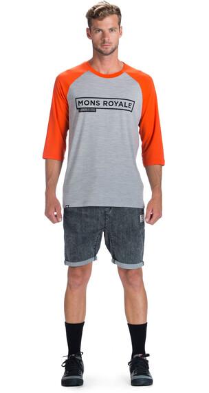 Mons Royale M's Riders Raglan Tee Grey Marl/Spice